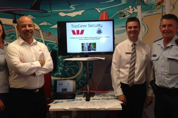 Community Security Workshops run by Top Gear Security alongside Westpac and Caloundra Police